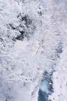 ブルーリバーと雪
