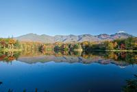 紅葉の知床三湖と知床連山