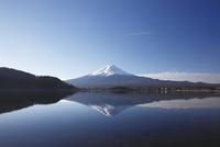 河口湖と富士山の冬