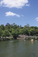 松江城の堀川遊覧船