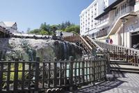 草津温泉街の湯畑