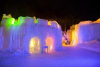 層雲峡氷瀑まつり,ライトアップ