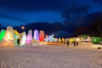 支笏湖氷濤まつり,ライトアップ