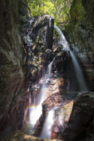 中津渓谷のシンボルともいえる雨竜の滝