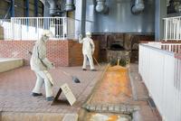 東田第一高炉跡の鋳床