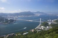 火の山公園の展望台から眺める関門海峡