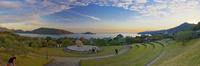 小豆島オリーブ公園内のイベント広場 10790011580| 写真素材・ストックフォト・画像・イラスト素材|アマナイメージズ
