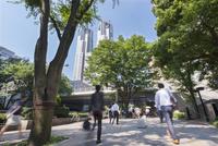 新宿の通勤風景