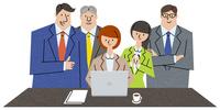 良い成果に集まる同僚たち 10814000020| 写真素材・ストックフォト・画像・イラスト素材|アマナイメージズ