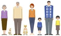 家族のキャラクターセット