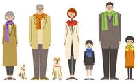 家族のキャラクターセット 10814000025| 写真素材・ストックフォト・画像・イラスト素材|アマナイメージズ