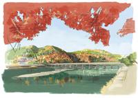 京都嵐山での紅葉狩りと渡月橋