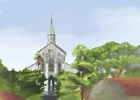 夏に訪れた大浦天主堂 10822000033| 写真素材・ストックフォト・画像・イラスト素材|アマナイメージズ