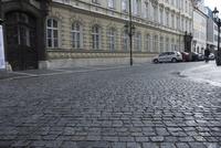 プラハ旧市街の石畳の道