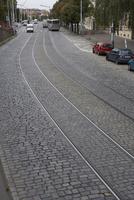 プラハ旧市街の石畳の道 10826000642  写真素材・ストックフォト・画像・イラスト素材 アマナイメージズ