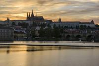 プラハ城 夕景
