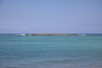 カイルアビーチ 青い海と空