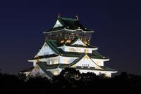 大阪城天守閣(ライトアップ)