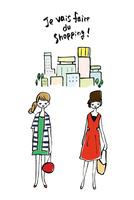 買い物に行く女性