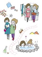 秋の女子旅 10846000019| 写真素材・ストックフォト・画像・イラスト素材|アマナイメージズ