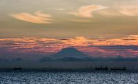 木更津からの富士山夕景