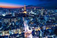 東京タワーのある夜景