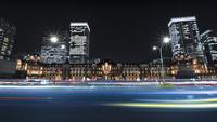 東京駅のある夜景