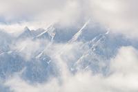白馬村の雪山の冬