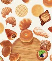パンと木のお皿