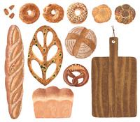 パンとカッティングボード_バラ