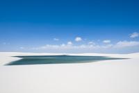 レンソイスの白い砂漠と湖