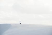 レンソイス砂漠の白砂の砂丘