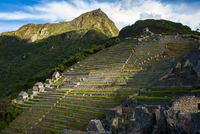 マチュピチュ遺跡の段々畑・アンデネスとマチュピチュ峰