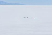ウユニ塩湖のキャンプ地の遠望