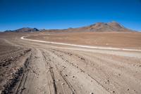 アタカマ高地の砂漠と道