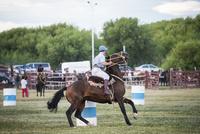パタゴニアの牧童ガウチョと騎馬祭