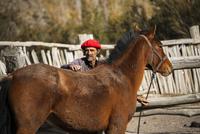 パタゴニアの牧童ガウチョと馬