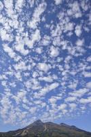 うろこ雲と磐梯山