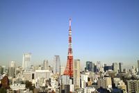 麻布十番からの東京タワーひき 10884000009| 写真素材・ストックフォト・画像・イラスト素材|アマナイメージズ