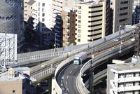 一の橋ジャンクション 10884000015| 写真素材・ストックフォト・画像・イラスト素材|アマナイメージズ