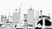 モノトーン調の未来都市 10913000007| 写真素材・ストックフォト・画像・イラスト素材|アマナイメージズ