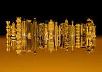 黄金の未来都市 10913000013| 写真素材・ストックフォト・画像・イラスト素材|アマナイメージズ