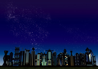 星空 未来都市 10913000016| 写真素材・ストックフォト・画像・イラスト素材|アマナイメージズ