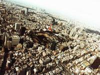 港区芝公園上空 11000000690| 写真素材・ストックフォト・画像・イラスト素材|アマナイメージズ