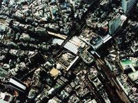 渋谷区渋谷駅上空