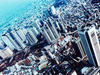 新宿区初台上空