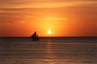 ボラカイビーチの夕日