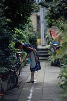 路地裏とおばさん