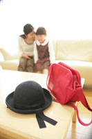 幼稚園の帽子と登園バッグ