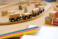 リビングの木製おもちゃ